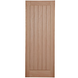 Cottage Panelled Oak Veneer Internal Unglazed Door, (H)1981mm