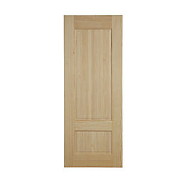 2 Panel Clear Pine Internal Unglazed Door, (H)1981mm