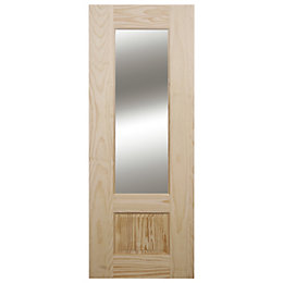 2 Panel Clear Pine Glazed Internal Standard Door,