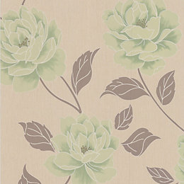 Colours Ella Spring Green Floral Wallpaper