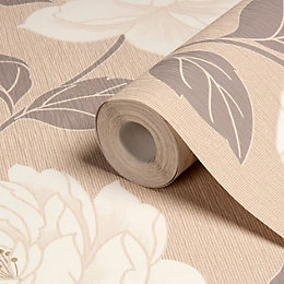 Colours Ella Stone Floral Wallpaper