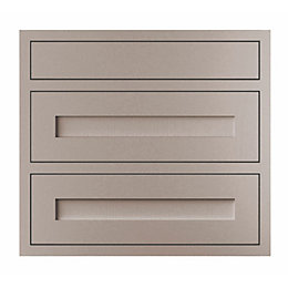 Cooke & Lewis Carisbrooke Taupe Framed Pan Drawer