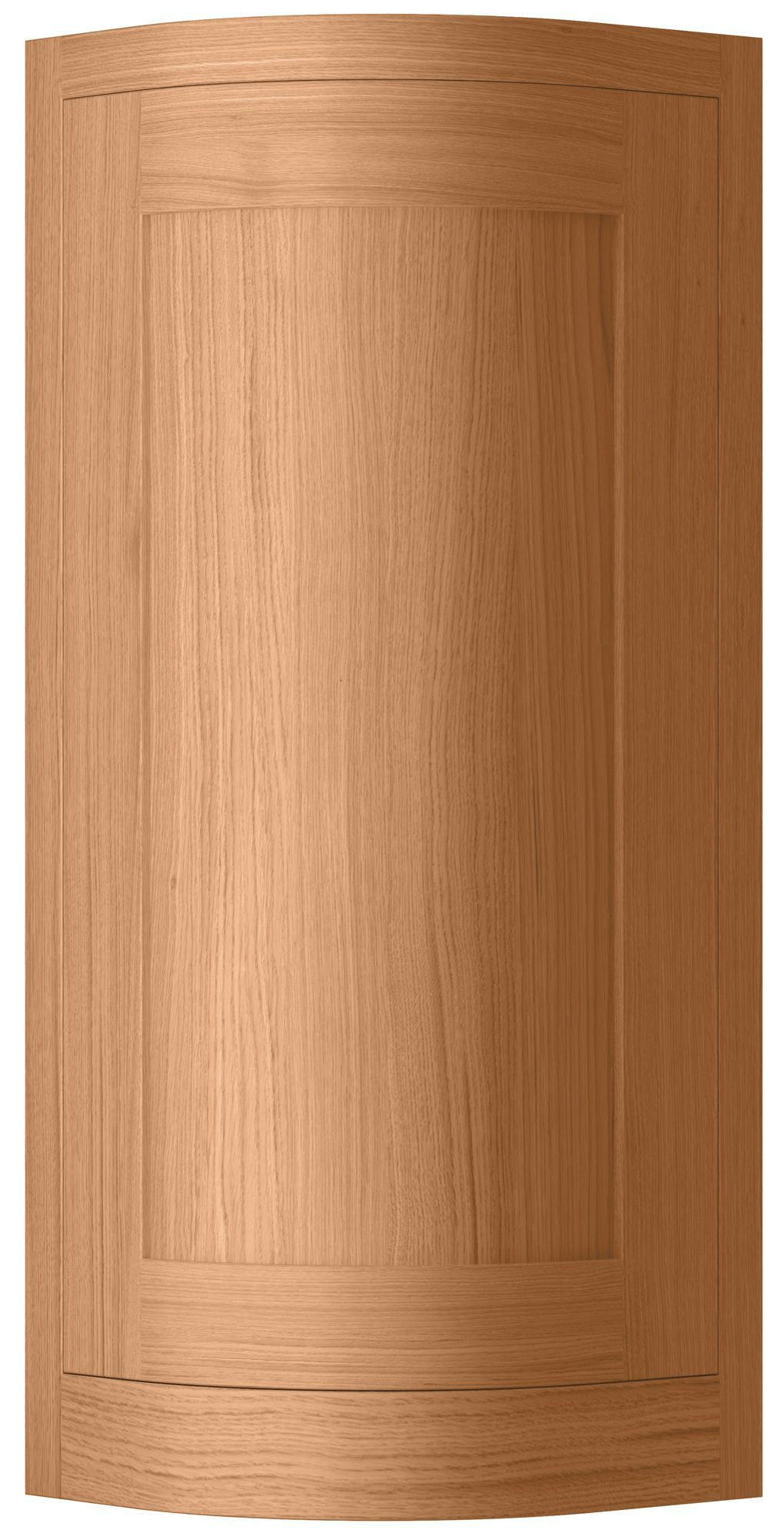 Cooke & Lewis Carisbrooke Oak Framed Tall Wall External Curved Door