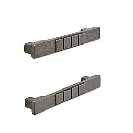 IT Kitchens Pewter Effect Bar Cabinet Handle, Pack