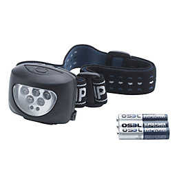 B&Q 16lm Plastic LED Black Head Torch