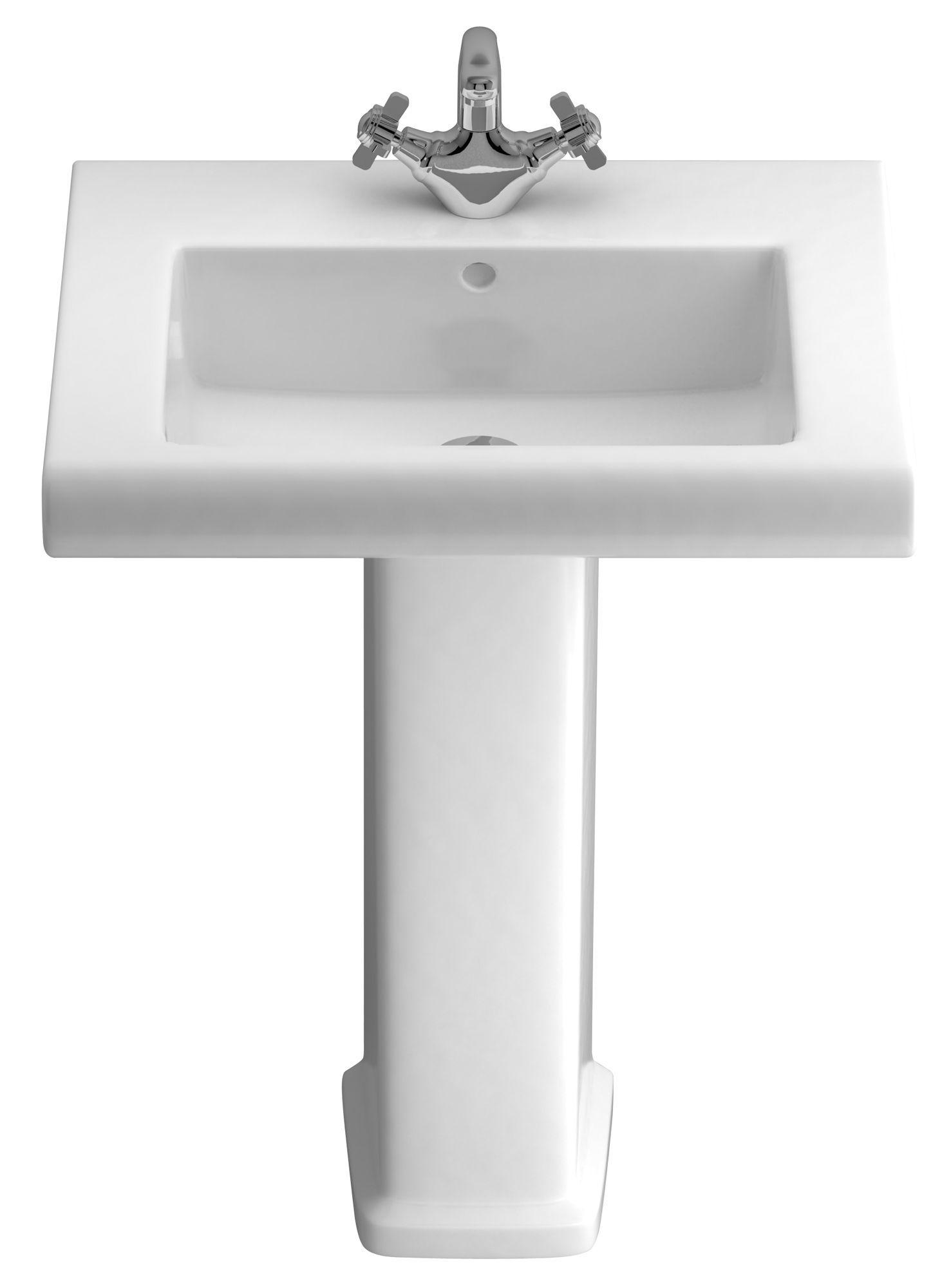 Bathroom Sinks B&Q Ireland cooke & lewis somerville full pedestal basin | departments | diy