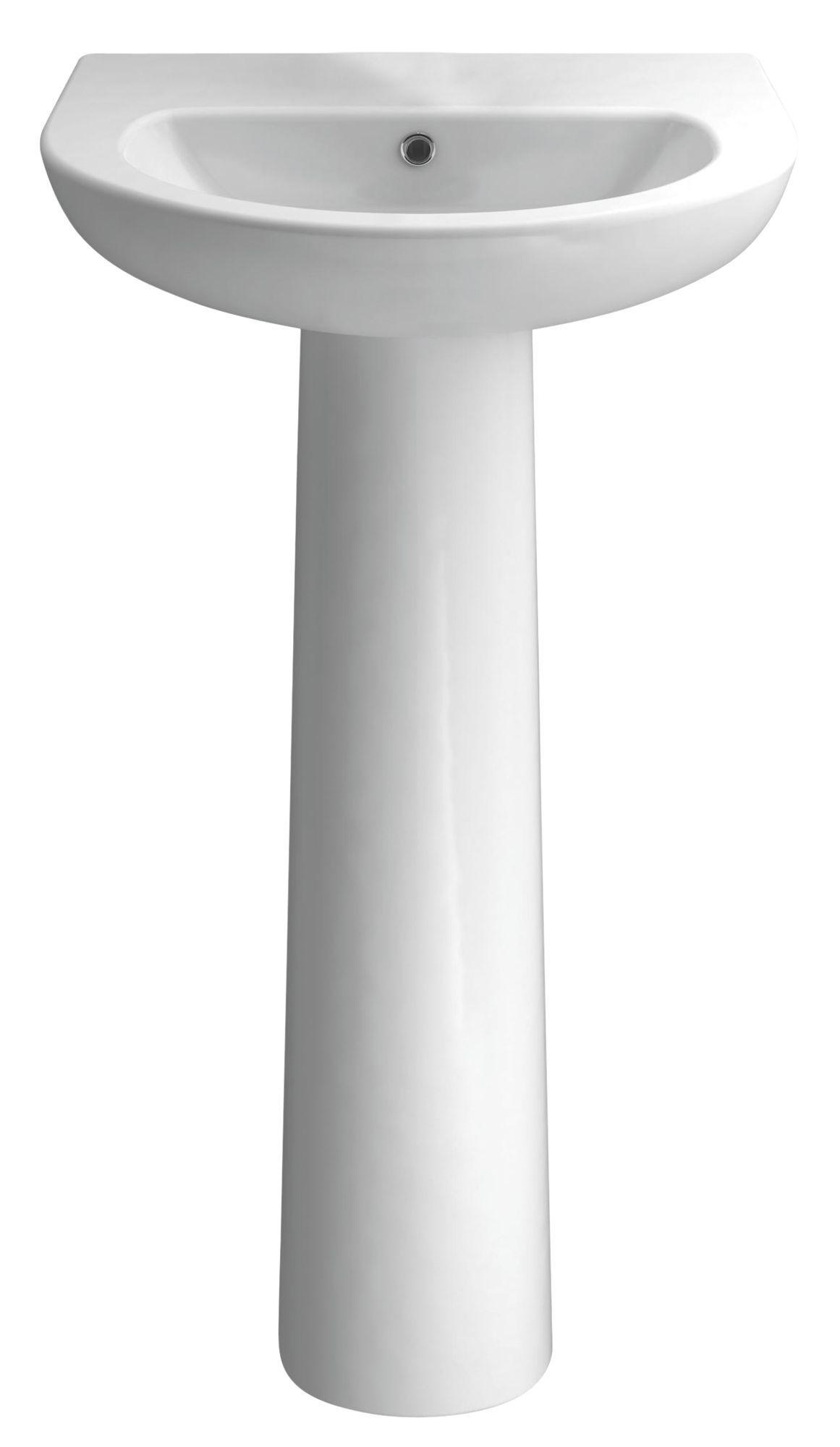 Bathroom Sinks B&Q Ireland cooke & lewis perdita full pedestal basin | departments | diy at b&q
