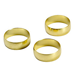 Plumbsure Brass Compression Olive, Pack of 3