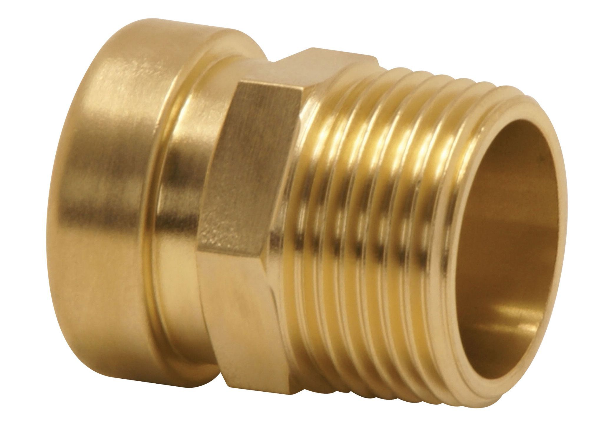 Push Fit Straight Connector Male (dia)15mm
