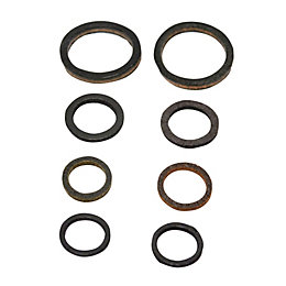 Plumbsure Leather Tap Washer, Pack of 8