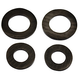 Plumbsure Rubber Hose Washer, Pack of 4