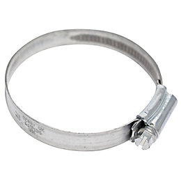 Plumbsure Silver Hose Clip (Dia)70mm, Pack of 2