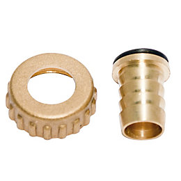 "Plumbsure Brass Hose Tail (Thread)1/2 "", Set of"
