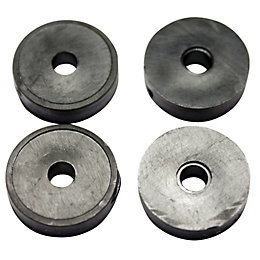 "Plumbsure Rubber Tap Washer (Thread)3/8"", Pack of 4"