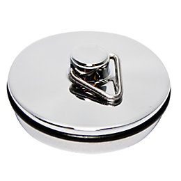 Plumbsure Metal Basin Plug Chrome Effect (Dia)32mm