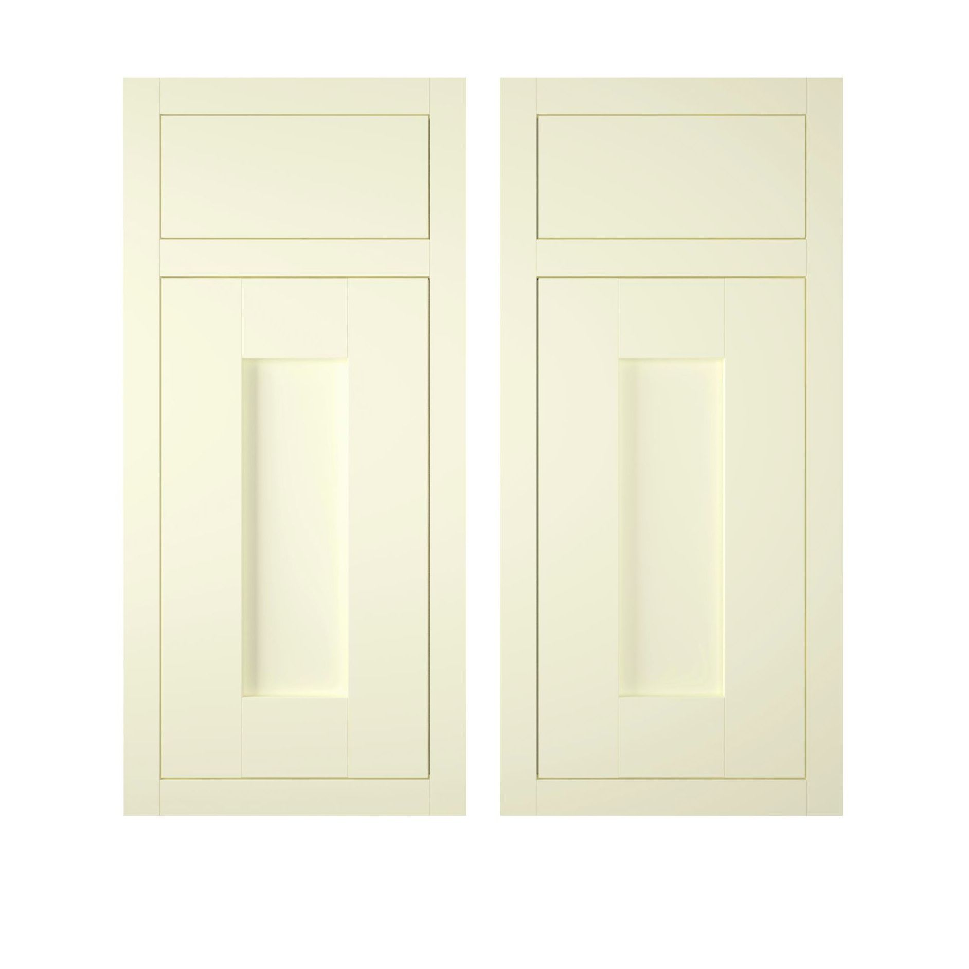 It kitchens chilton white country style corner base door for Country style kitchen doors