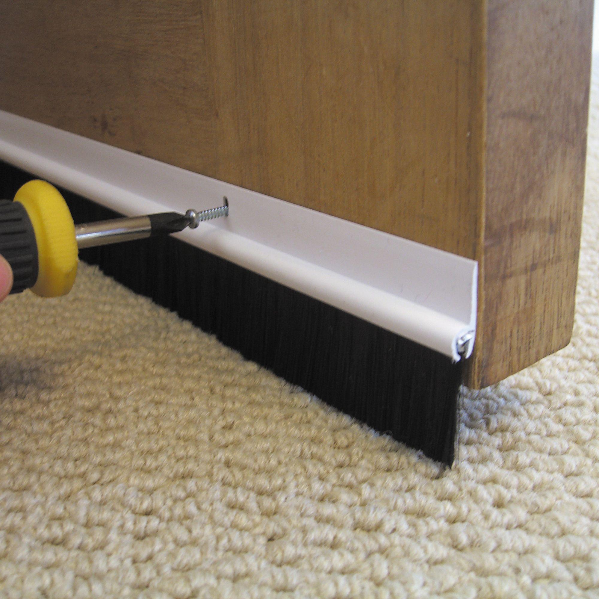 b q pvc brush door seal l 838mm departments diy at b q. Black Bedroom Furniture Sets. Home Design Ideas