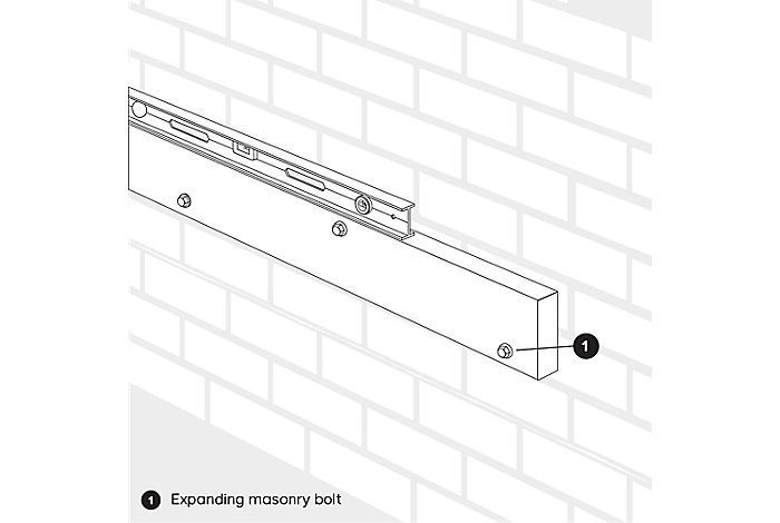 drill into the wall to attach decking to wall