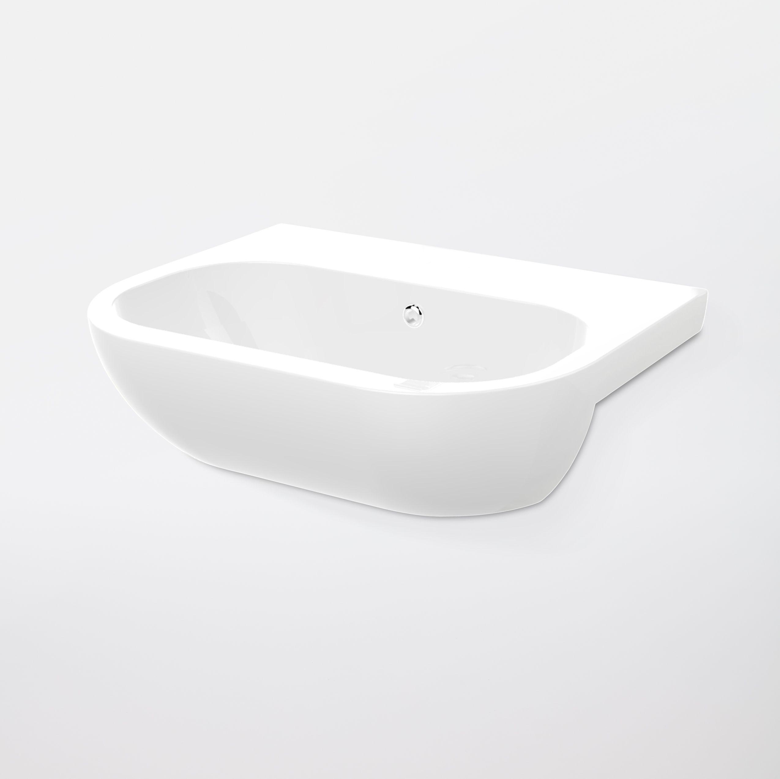 Bathroom Sinks B&Q Ireland cooke & lewis helena semi-recessed basin | departments | diy at b&q