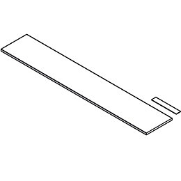 Cooke & Lewis Smooth White Plinth (L)2120mm