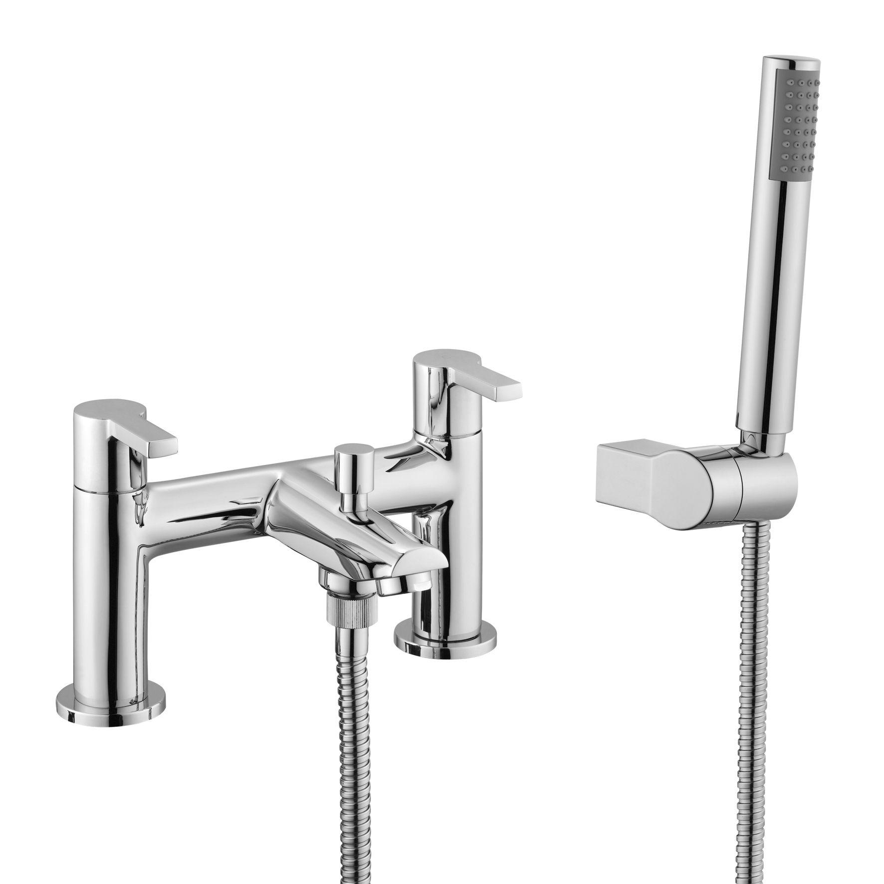 b q purity chrome bath shower mixer tap departments diy at b q
