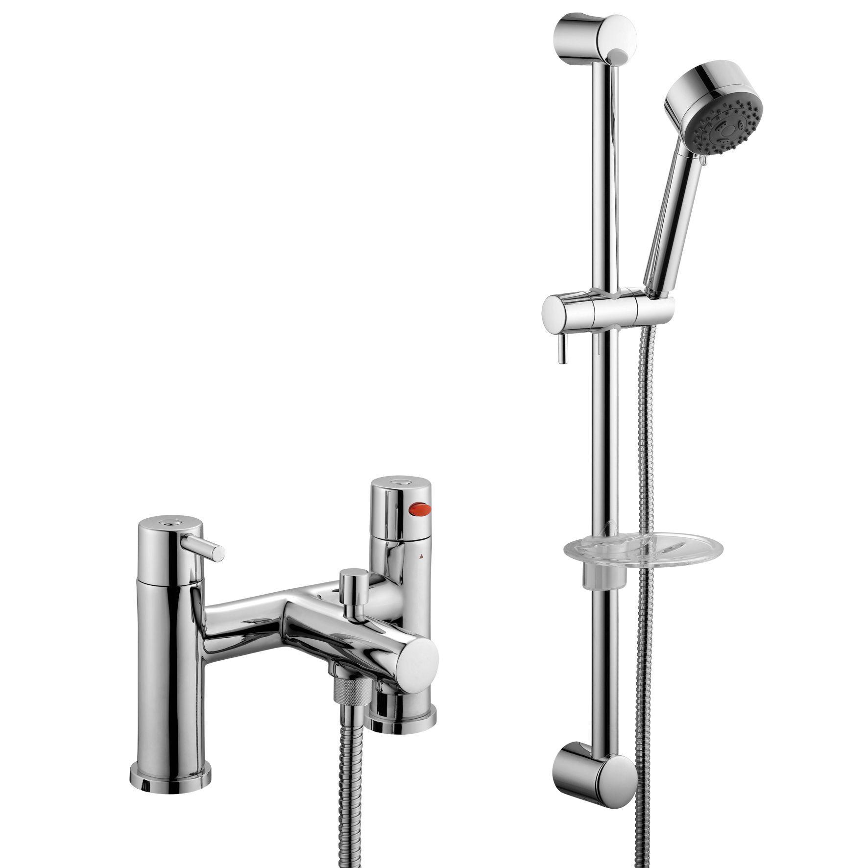 b q cirque chrome bath shower mixer tap departments diy at b q