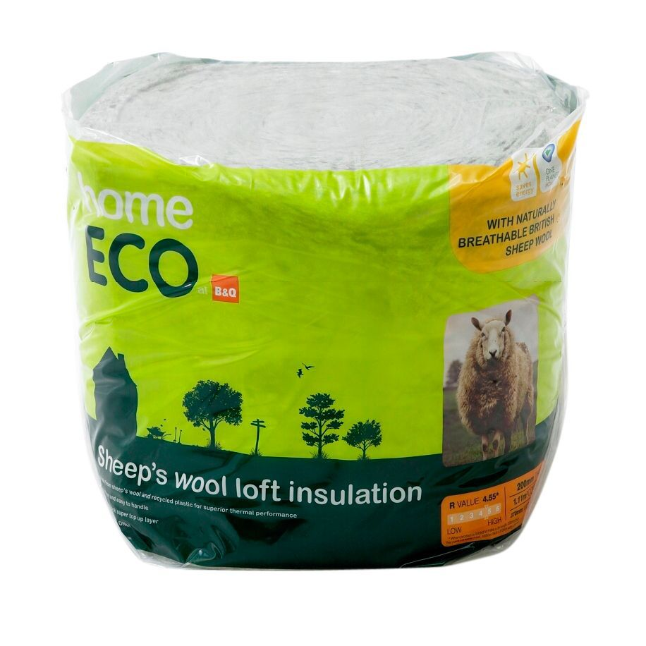 b q home eco loft insulation l 3m w 370mm t 200mm. Black Bedroom Furniture Sets. Home Design Ideas