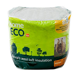 B&Q Homeeco Loft Insulation, (L)3m (W)370mm (T)200mm