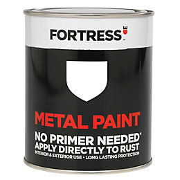 Fortress White Gloss Metal Paint 750ml