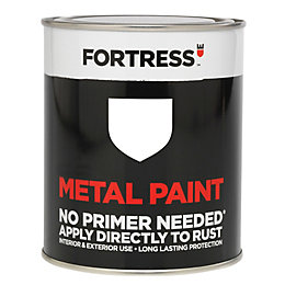 Fortress White Satin Metal Paint 750ml