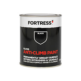 Fortress Black Gloss Anti-Climb Paint 750ml
