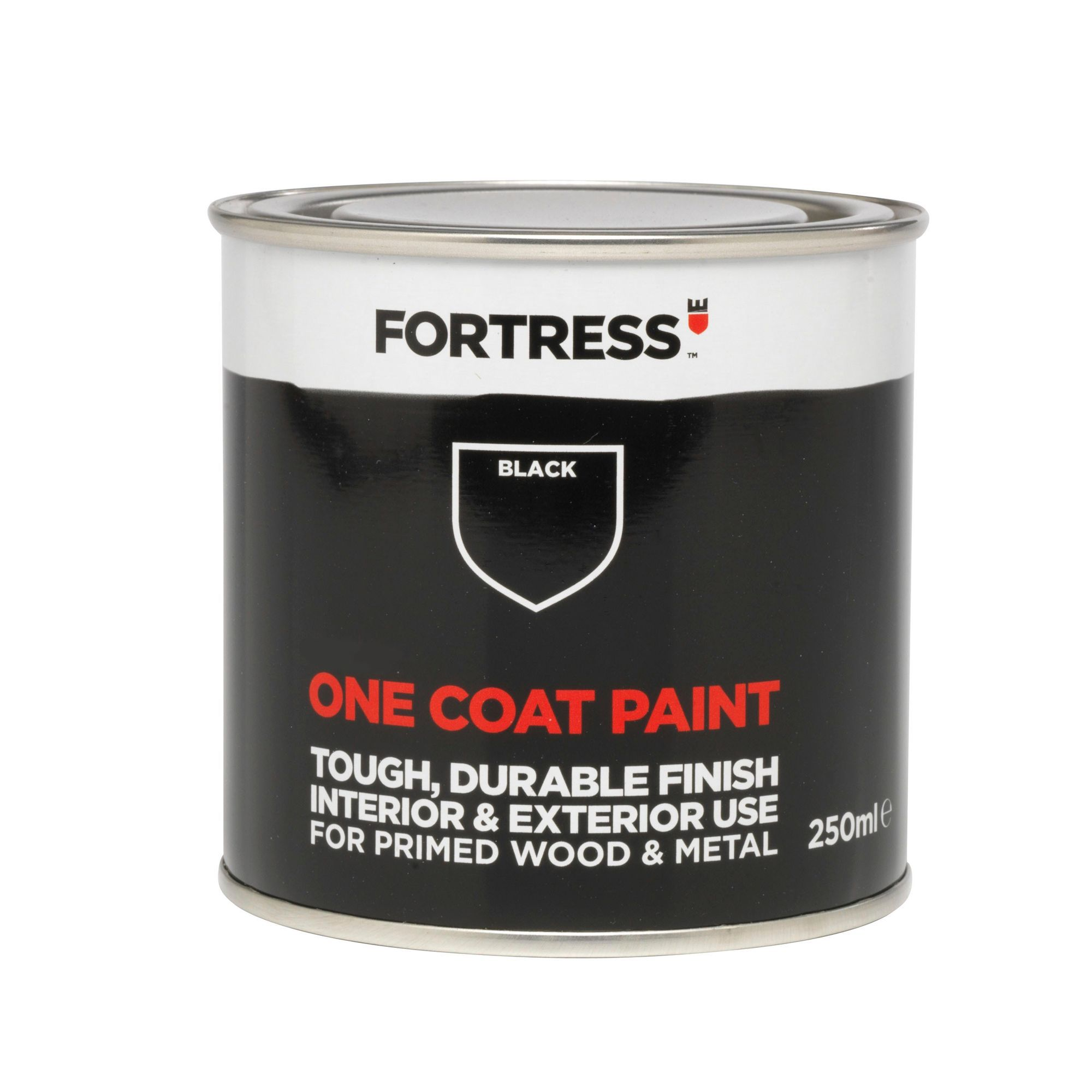 Fortress Matt One Coat Black Paint Ml