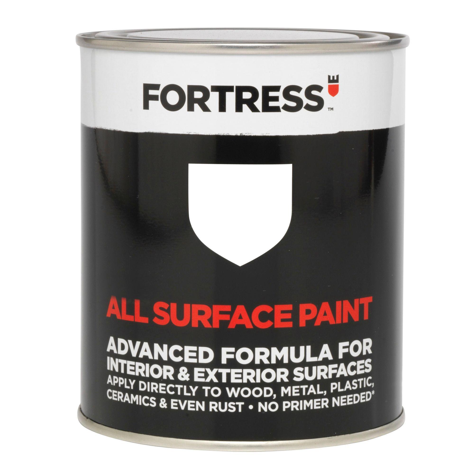Fortress Interior & Exterior White Gloss Multipurpose Paint 250ml