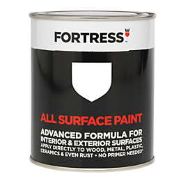 Fortress Interior & Exterior White Gloss Multipurpose Paint