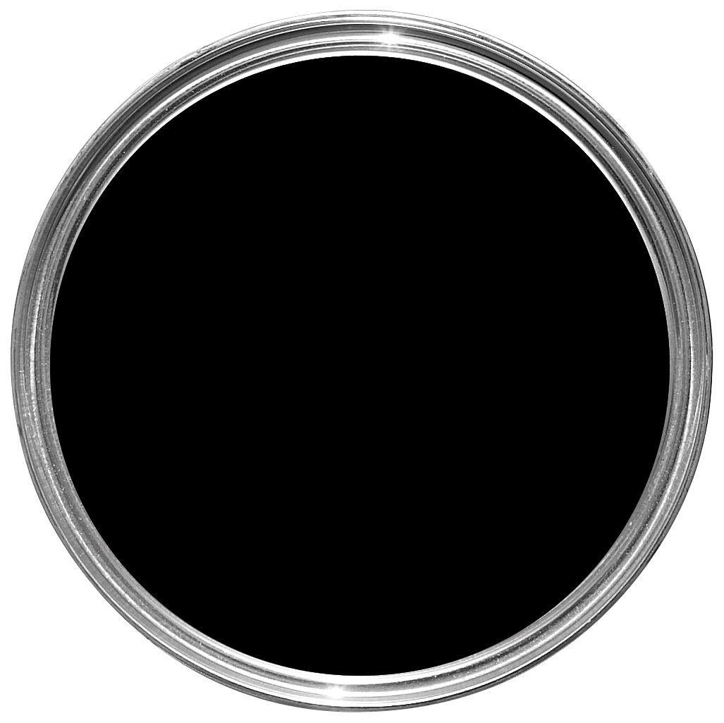 Fortress Interior & Exterior Black Gloss Multipurpose Paint 750ml