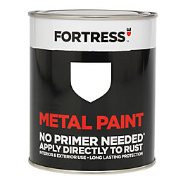 Fortress White Gloss Metal Paint 250ml