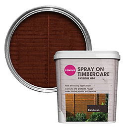 Colours Spray On Timbercare Dark Brown Shed &
