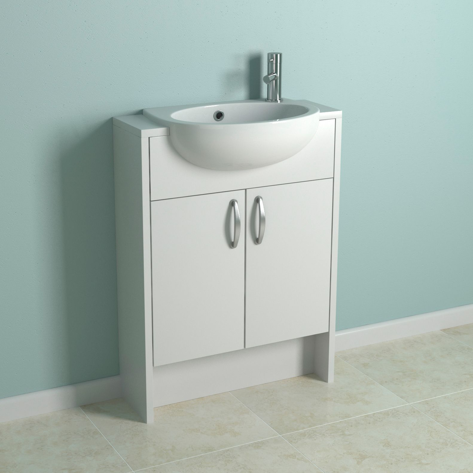White Bathroom Vanity DIY