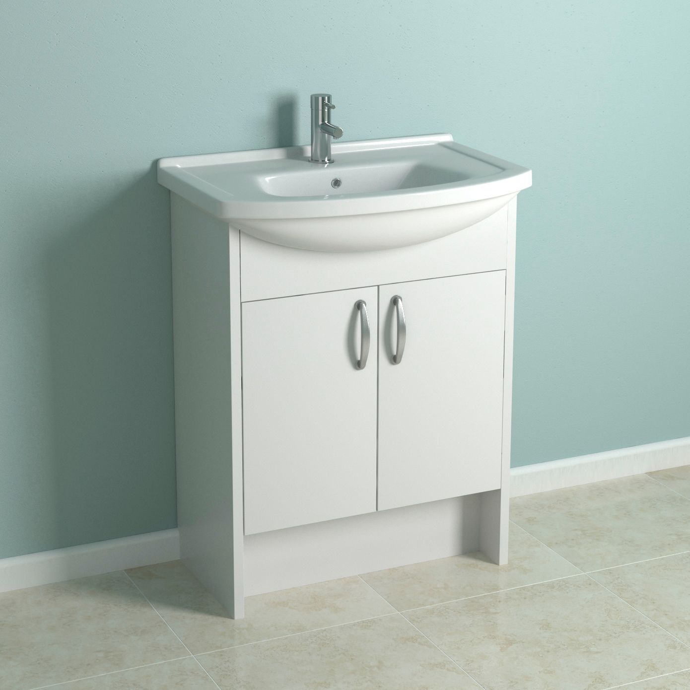 Cooke & Lewis Enza White Vanity Unit With Clad-On End