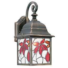 Bindi Multicolour Antique Bronze Effect External Wall Light