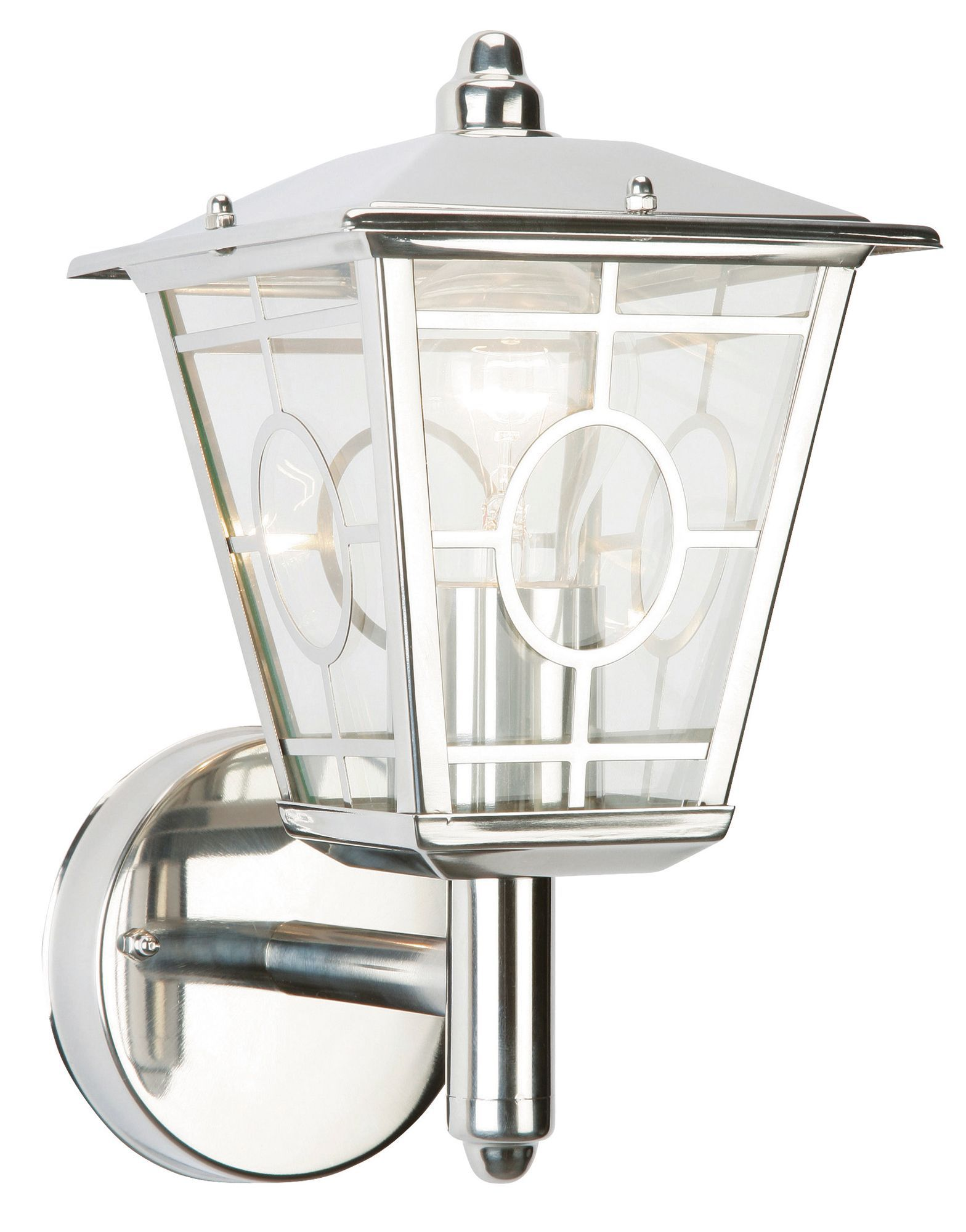 External Wall Lights Chrome : Triton Chrome Effect Mains Powered External Wall Lantern Departments DIY at B&Q