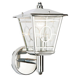Triton Chrome Effect Mains Powered External Wall Lantern