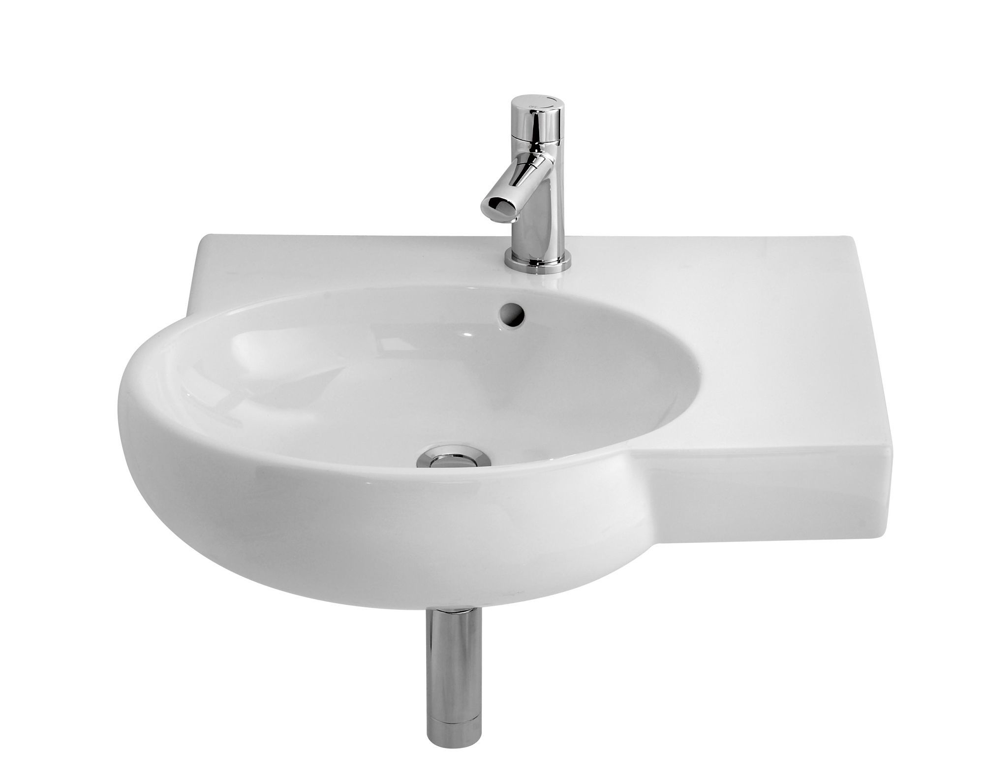 Bathroom Sinks B&Q cooke & lewis eleanor wall mounted cloakroom basin | clearance