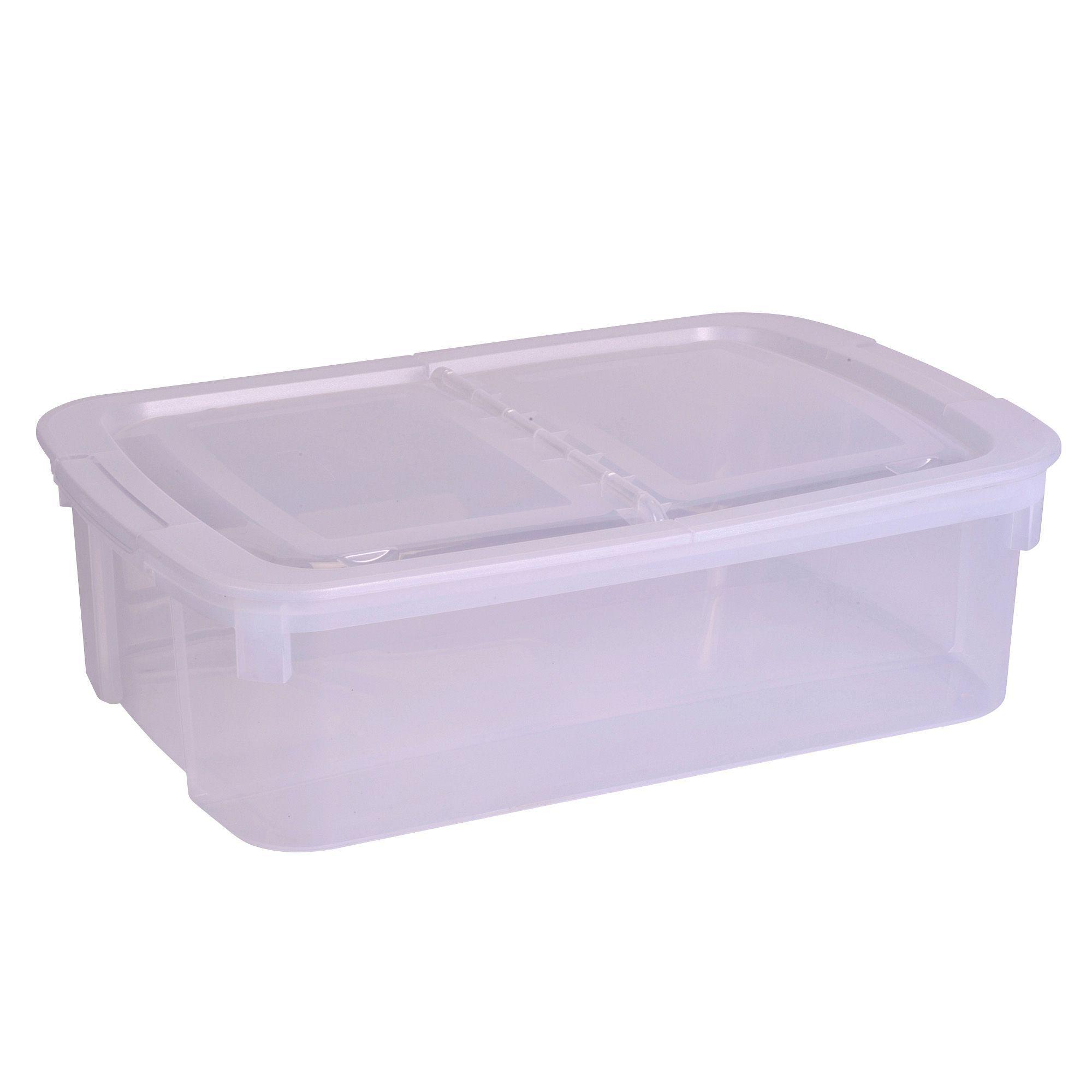 curver clear 30l plastic storage box departments diy. Black Bedroom Furniture Sets. Home Design Ideas