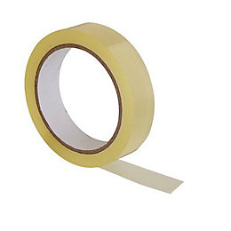 B&Q Clear General Purpose Tape (L)66M (W)24mm