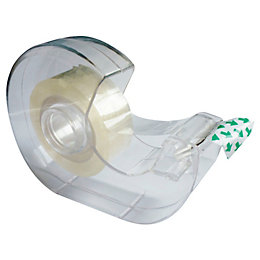 B&Q Clear General Purpose Tape & Dispenser (L)25M