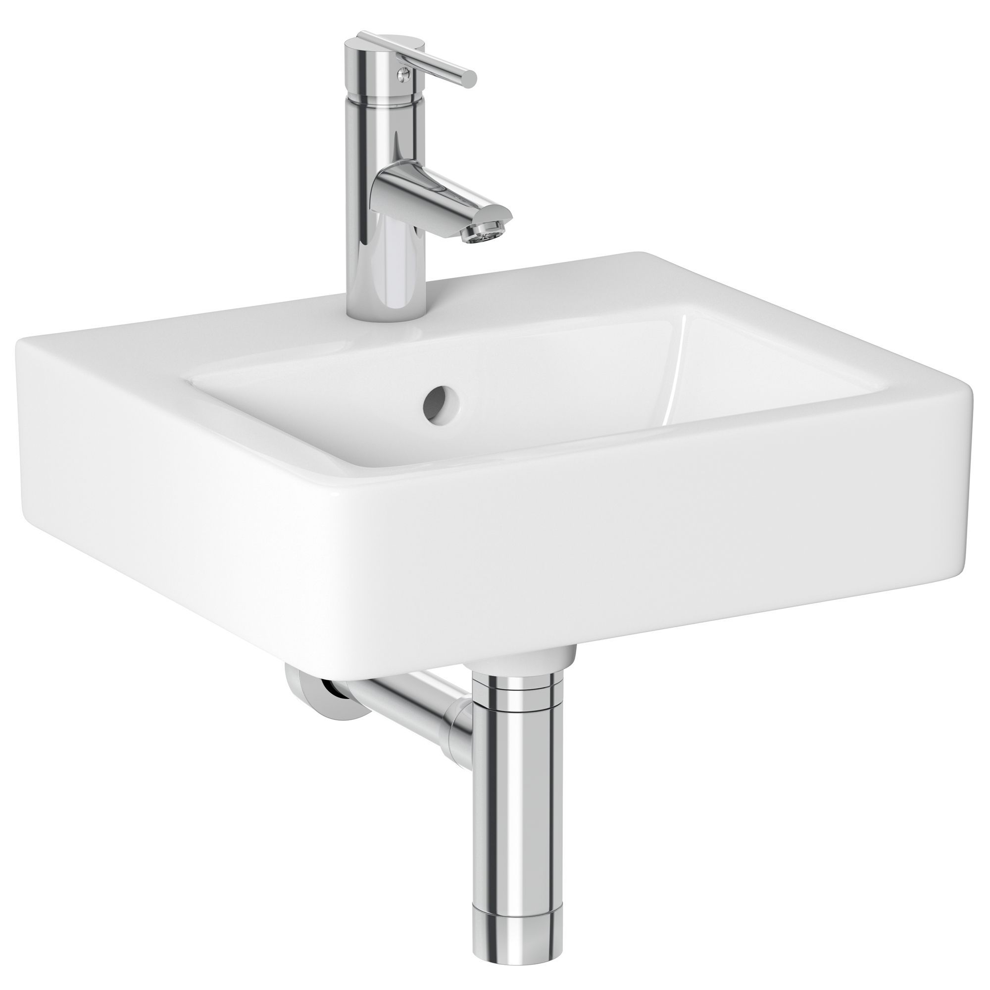 Bathroom Sinks B&Q cooke & lewis alexas square cloakroom basin | departments | diy at b&q