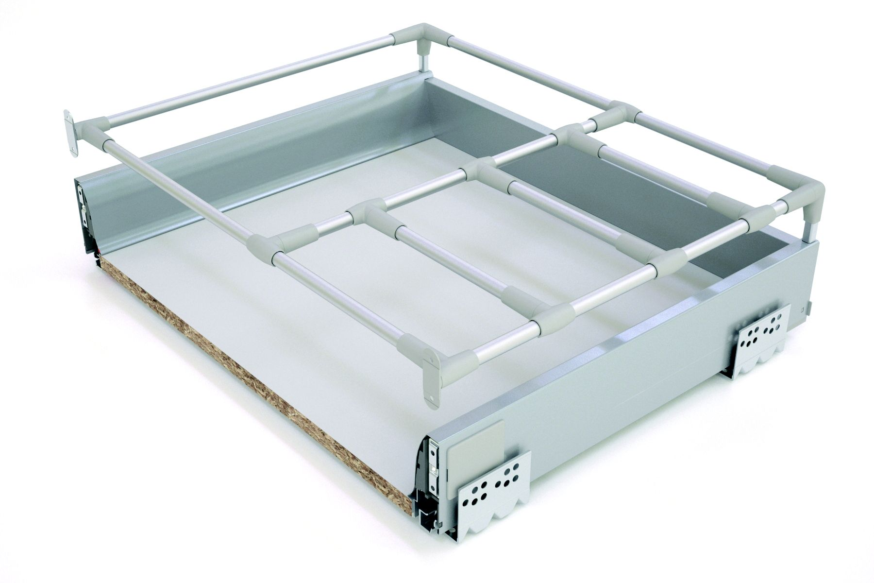 it kitchens silver effect pan drawer box w 600mm departments