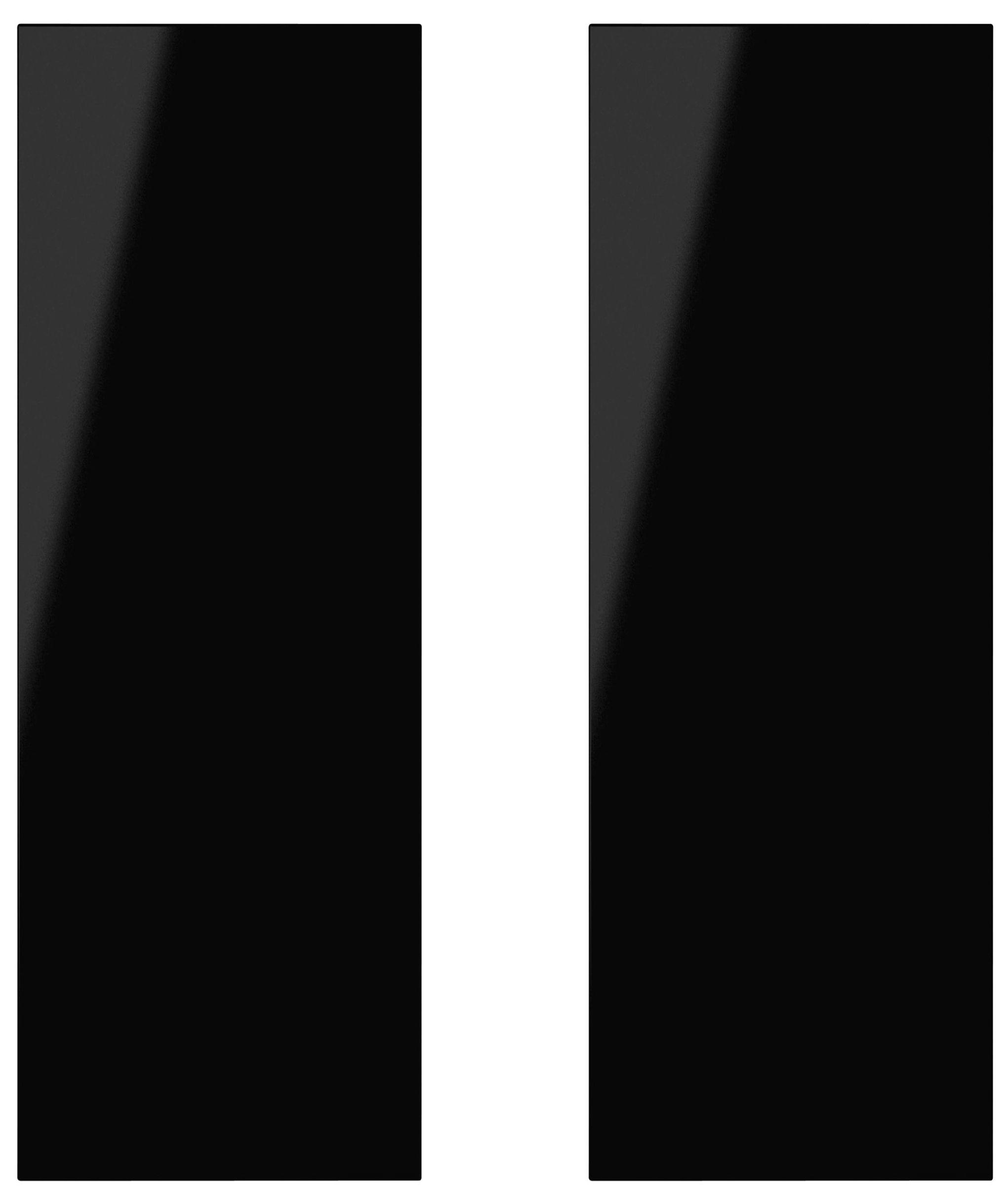 It Kitchens Santini Gloss Black Slab Corner Wall Door (w)625mm, Set Of 2