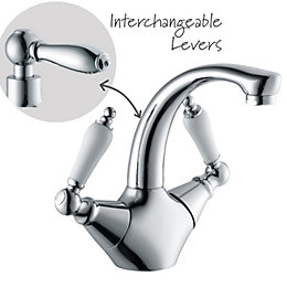 Cooke & Lewis Timeless 2 Lever Basin Mixer